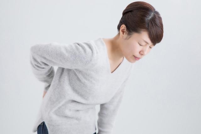 坐骨神経痛の女の人